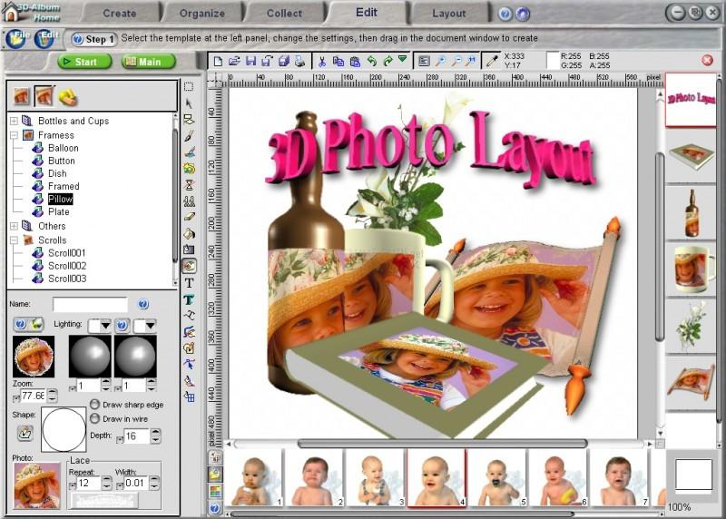 Pantallazo 3D Album PicturePro 3