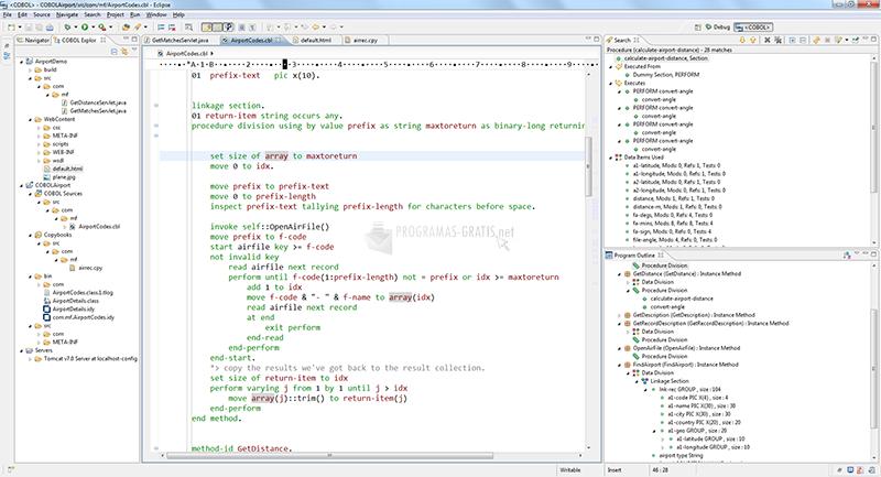 Pantallazo Micro Focus Visual COBOL