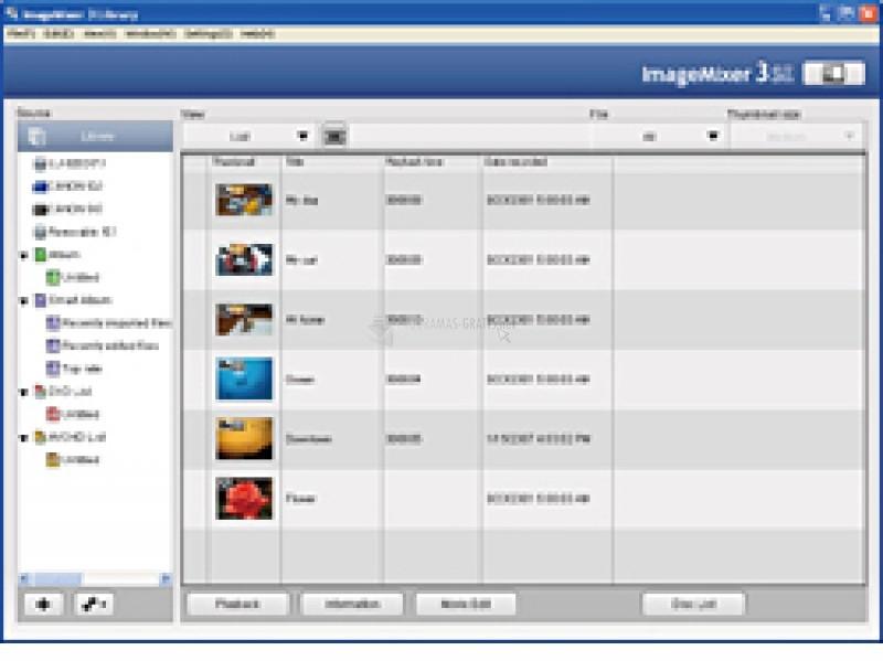 Pantallazo Pixela ImageMixer 3SE Parche