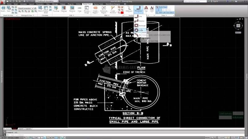 Pantallazo AutoCAD Raster Design