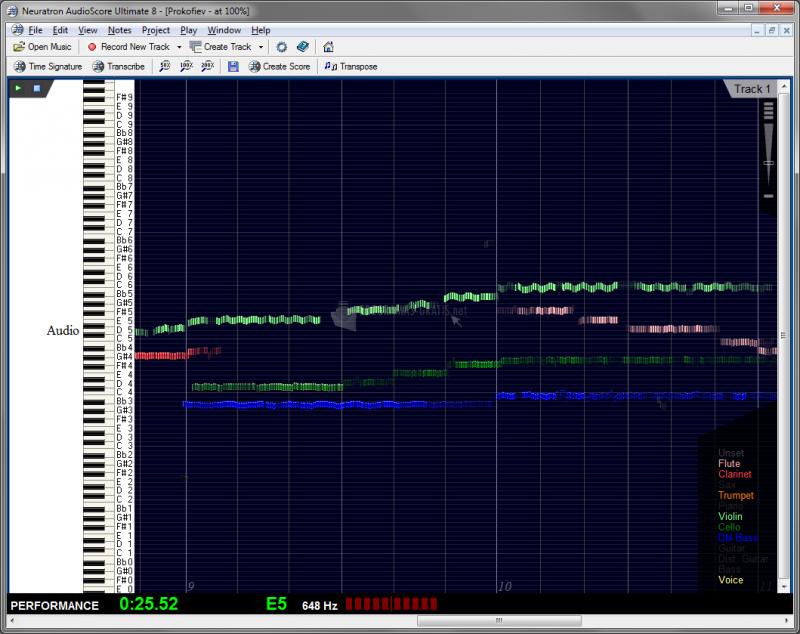 Pantallazo AudioScore Ultimate