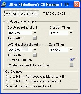 Pantallazo CD-Bremse