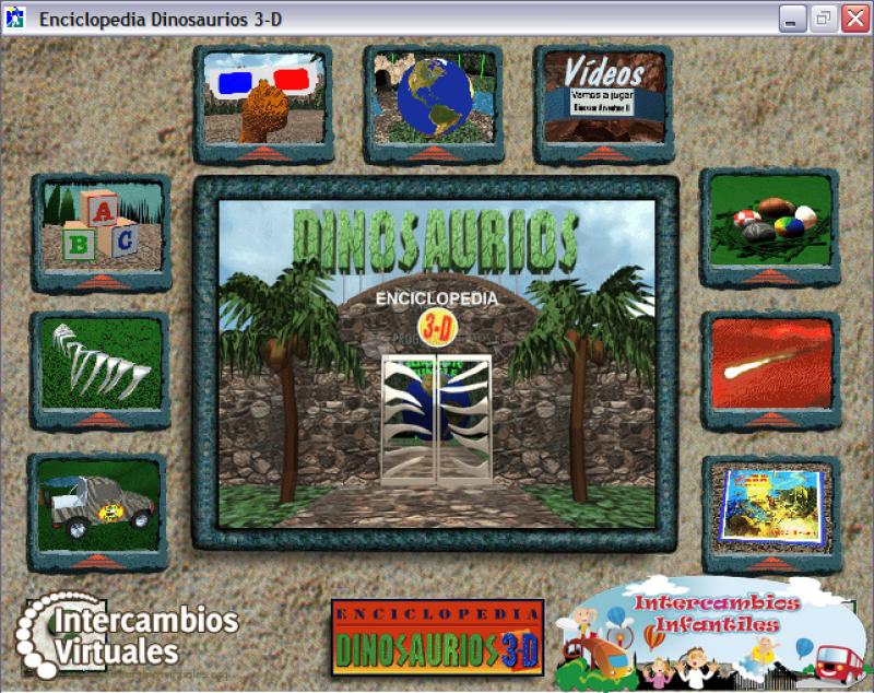 Pantallazo Enciclopedia de los Dinosaurios 3D