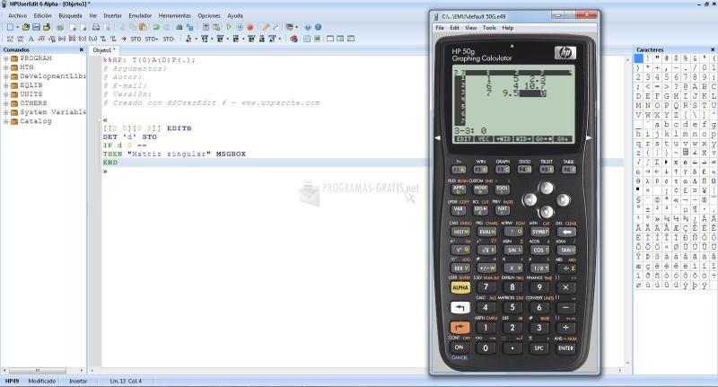 Pantallazo HP User Edit