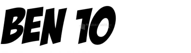 Pantallazo Ben 10 Font