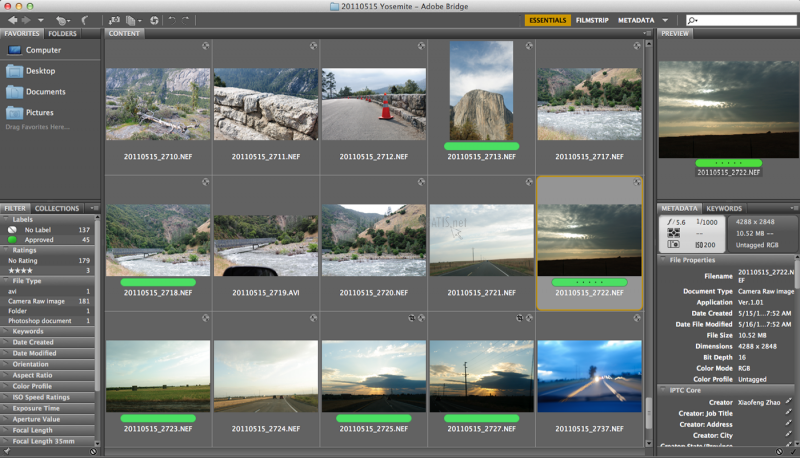 Pantallazo Adobe Bridge
