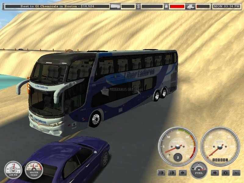 Pantallazo 18 Wheels of Steel Haulin Mod Bus Peru