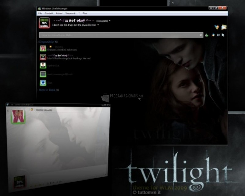 Pantallazo Skin MSN Twilight