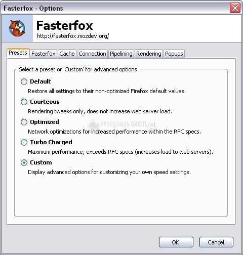 Pantallazo FasterFox