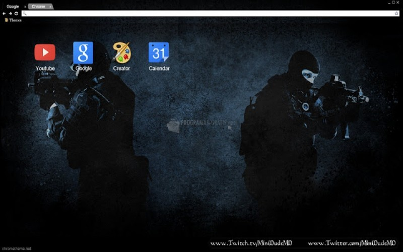 Pantallazo Counter Strike Theme Chrome