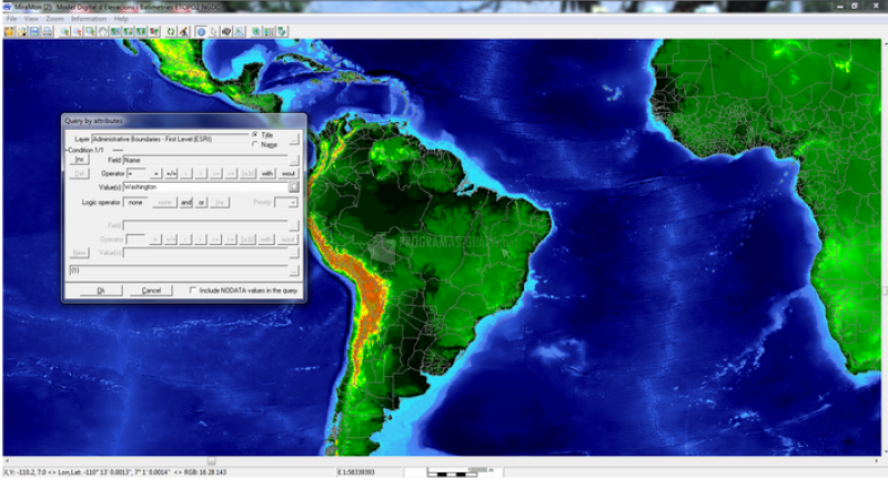 Pantallazo MiraMon Universal Map Reader