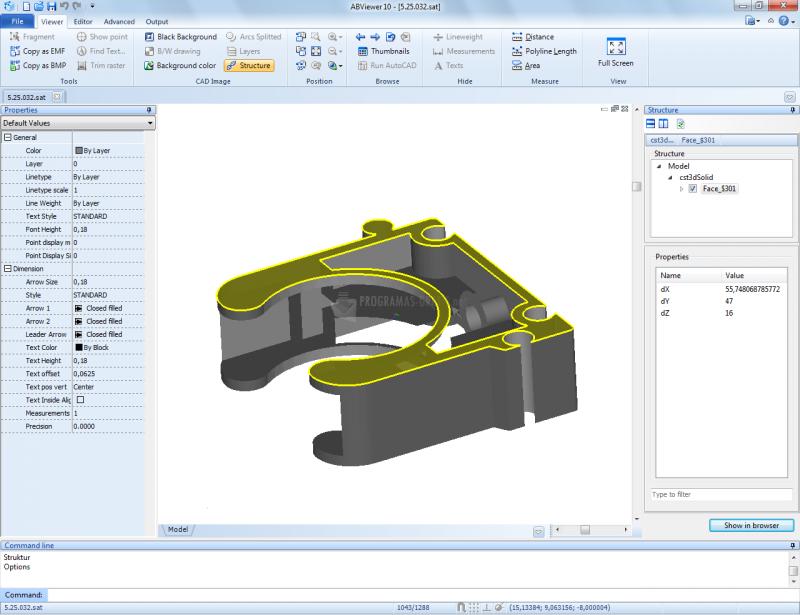 Pantallazo 3D Viewer ABViewer