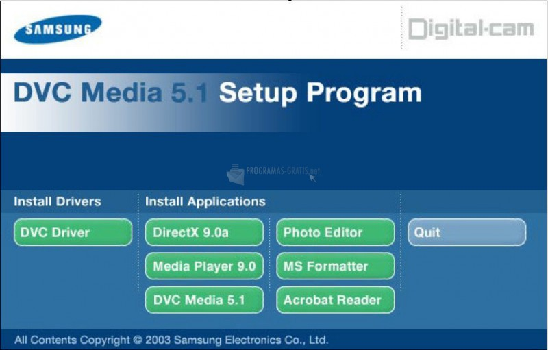 Pantallazo Samsung DVC Media