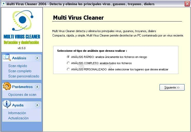 Pantallazo Multi Virus Cleaner