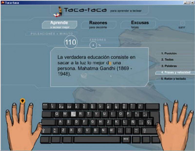 Pantallazo Taca-Taca Mecanografía