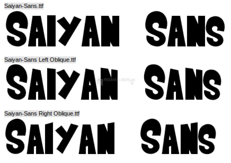 Pantallazo Saiyan Sans