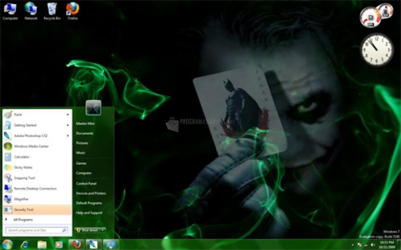 Pantallazo Joker the Smoker Theme