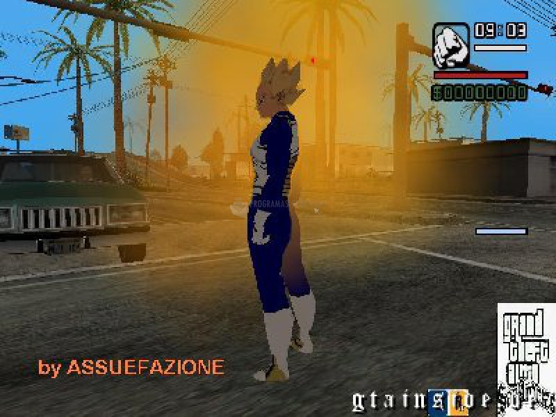 Pantallazo Mod Dragon Ball para GTA San Andreas