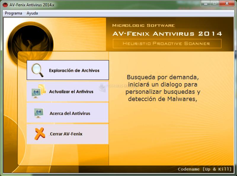 Pantallazo AV Fenix Antivirus
