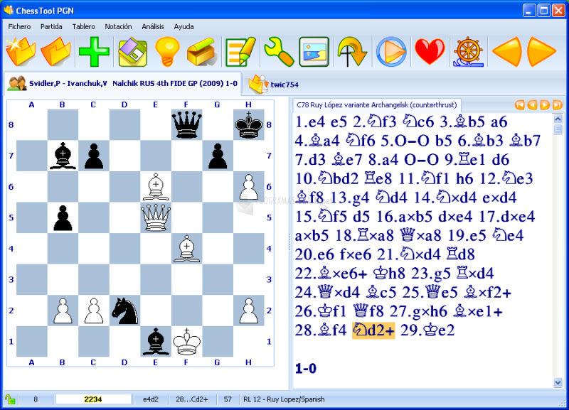 Pantallazo ChessTool PGN