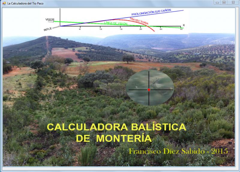 Pantallazo Calculadora Balística de Montería