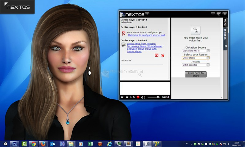 Pantallazo Virtual Assistant Denise