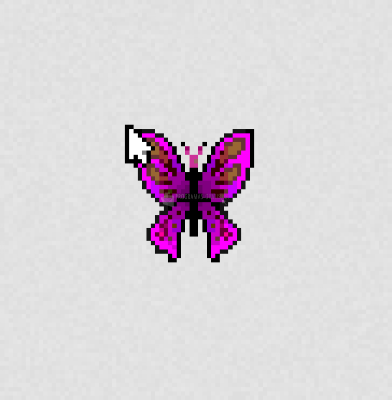 Pantallazo Flapping Purple Butterfly Cursor