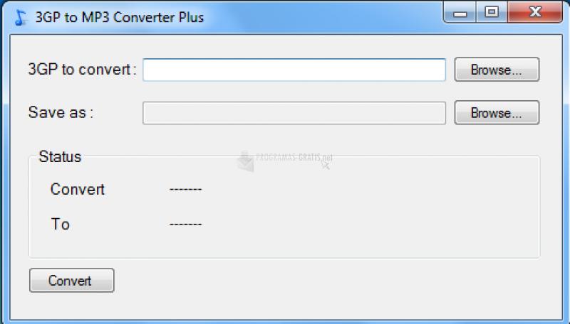 Pantallazo 3GP to MP3 Converter