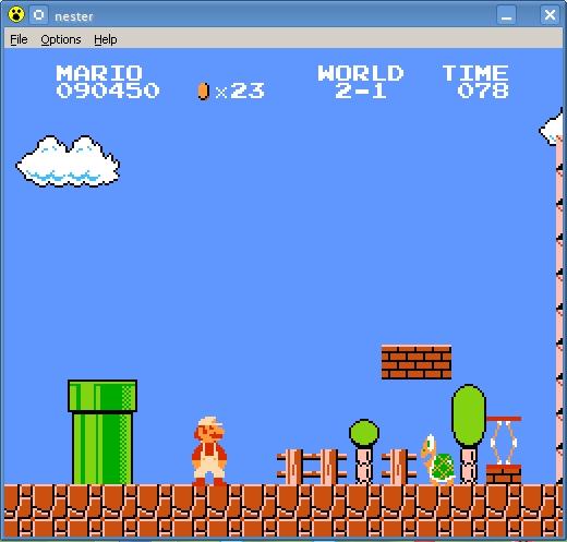 Pantallazo Nester NES Emulator
