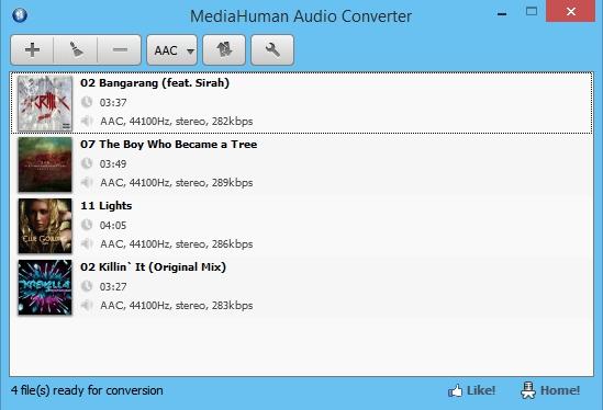 Pantallazo MediaHuman Audio Converter