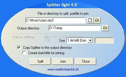 Pantallazo Splitter Light