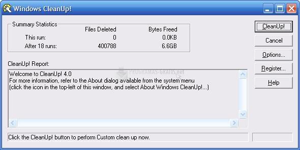 Pantallazo Windows Cleanup