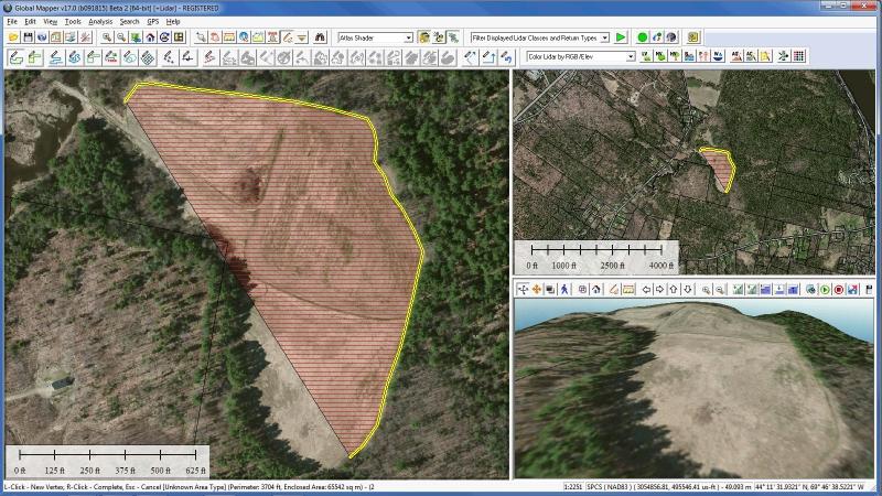 Pantallazo Global Mapper