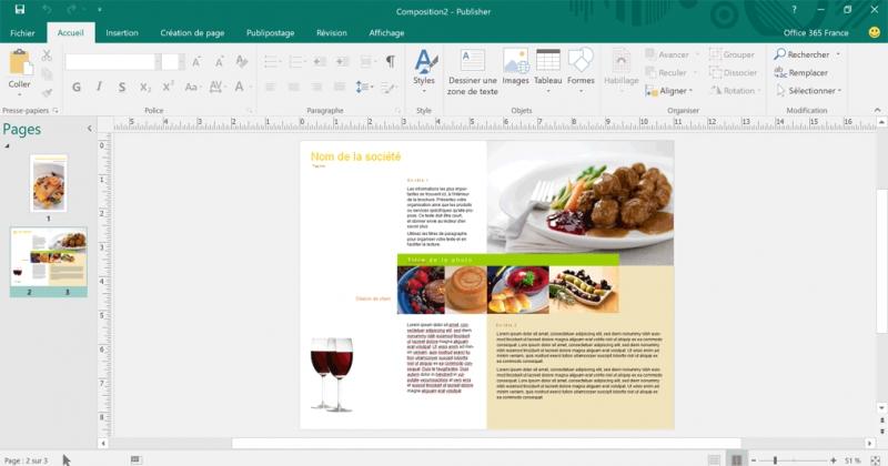 Pantallazo Microsoft Publisher
