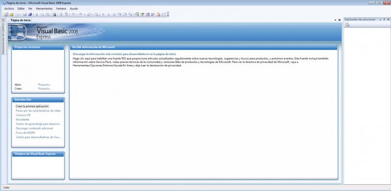 Pantallazo Microsoft Visual Basic