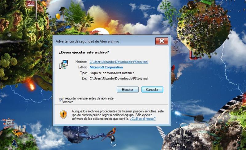 Pantallazo Windows Installer