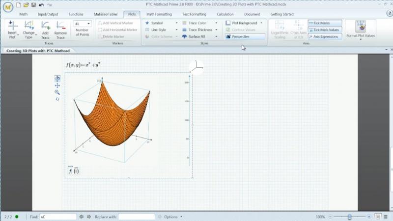 Pantallazo MathCAD