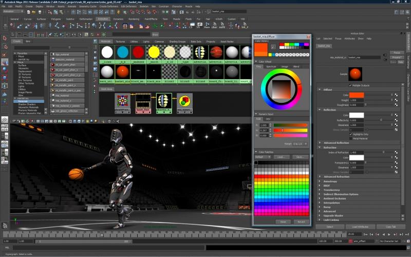 Pantallazo Autodesk Maya