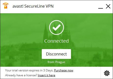 Pantallazo Avast SecureLine