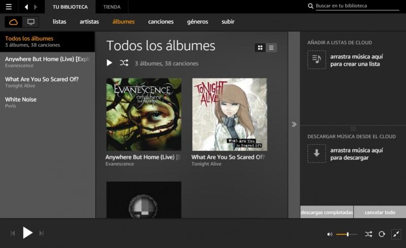 Pantallazo Amazon Music Player
