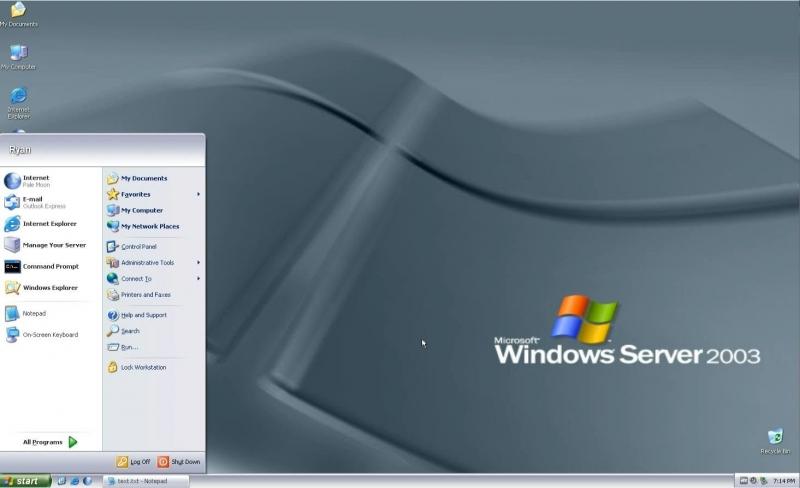 Pantallazo Windows Server 2003
