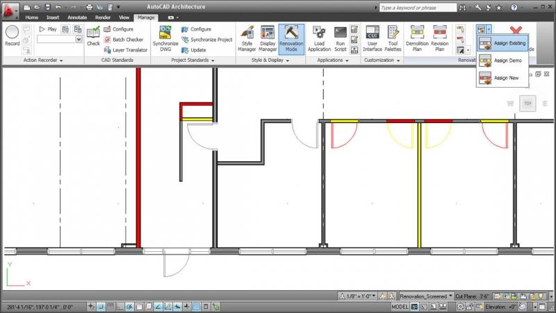 Pantallazo AutoCAD Architecture