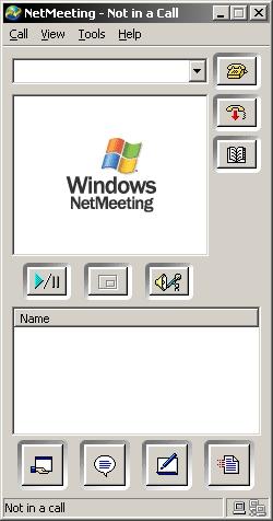 Pantallazo Microsoft NetMeeting
