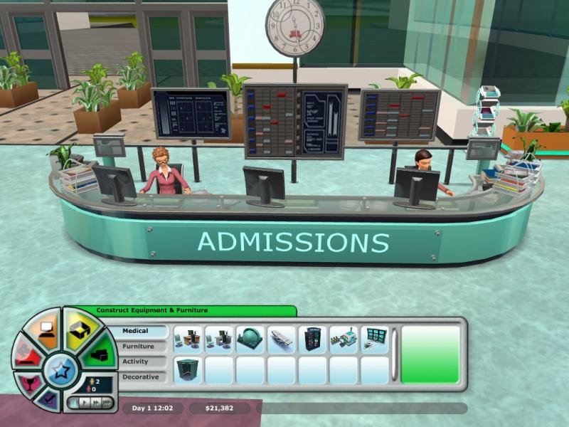 Pantallazo Hospital Tycoon