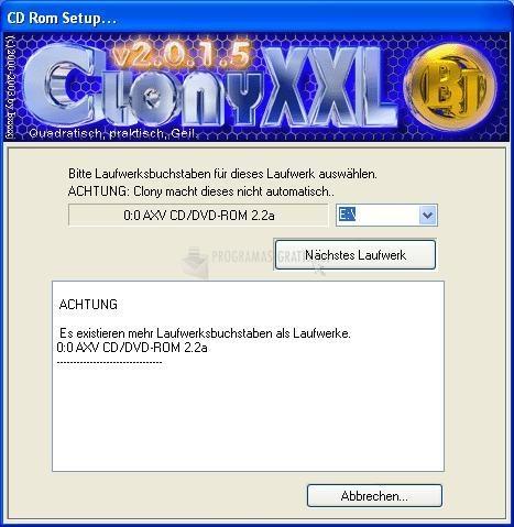 Pantallazo ClonyXXL