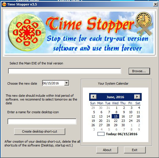 Time stopper for windows 8