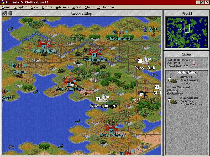 Pantallazo Civilization II