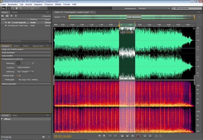 Pantallazo Adobe Soundbooth