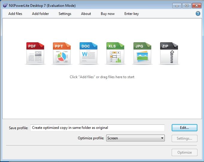 Pantallazo NXPowerLite Desktop