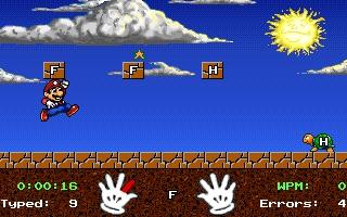 Pantallazo Mario Teaches Typing